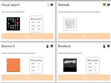 Tarvitaan: Brain Twister: online mini-games study