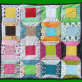 Vente au détail: Plaid en patchwork cousu mains