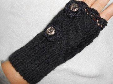Vente au détail: mitaines en laine/Gants Hiver, Gants Hiver en laine noire