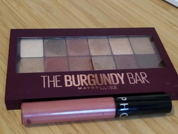 Venta: Pack paleta The Burgundy Bar + Lip Stain Sephora 05
