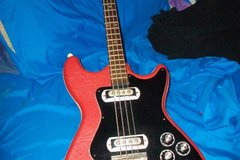 Renting out: 1966 klira arkansas red naugahyde bass