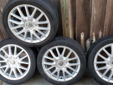 "Selling: VW Classix 17"" wheels 5x112 54mm offset (San Jose, CA)"