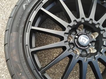 Selling: new motegi wheels and yokohama tires