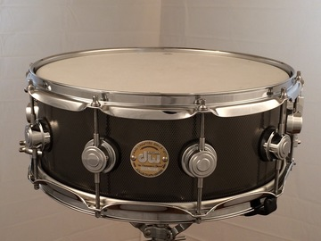 Selling with online payment or cash/check/money order/cash app/Venmo: DW  5.5x14 Knurled Black Nickel over Steel snare - $325 lowered