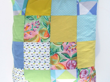 Sale retail: Coussin déhoussable en patchwork