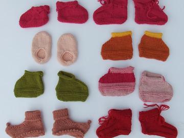 Vente au détail: Chaussons pour bébés tricotés mains