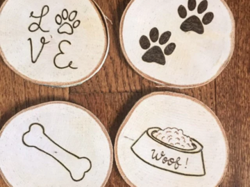 Selling: Pawsome Dog Coasters Set of 4