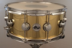 Selling with online payment or cash/check/money order/cash app/Venmo: DW Drum Workshop 6.5x14 cast brass snare/black badge/rare