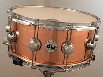 Selling with online payment: DW 6.5x14 Collectors Copper Shell snare drum price lowered  $575