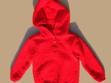 Sale retail: Pull à capuche rouge