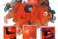 Buy Now: 1008--Halloween hair clips and ponytail scrunchies $ .14 pcs