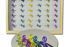 Buy Now: 324 pcs-- Neon Color Toe Rings-- Aluminum--lightweight $.25 pcs