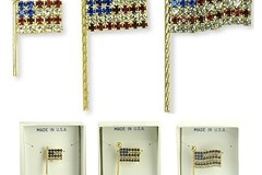 Buy Now: 36 Flag Swarovski Rhinestone Pins-- $2.50 each!