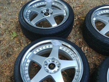 Selling:  FS: Work VS-ZF 18x8 w/ tires - Rare wheels