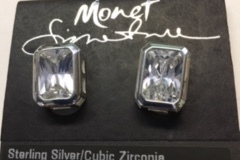 Buy Now: 20 pairs--Monet Sterling Silver CZ Earrings --$1250 retail- $4.99