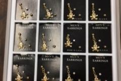 Liquidation/Wholesale Lot: 1080 pcs Unisex  Earrings-- $ .12pcs!