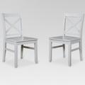 Single Item: Carey Dining chair- Gray (set of 2) Threshold