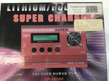 Selling: Used Thunder Power Li-po Charger. TPC1010c
