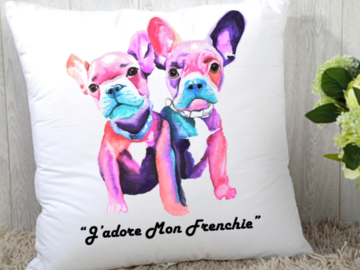 Selling: J'Adore Mon Frenchie Square Pillow