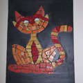 """Vente au détail: Décoration murale sur ardise """"Le Chat"""""""