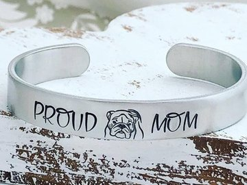 Selling: Proud Bulldog Mom Cuff Bracelet