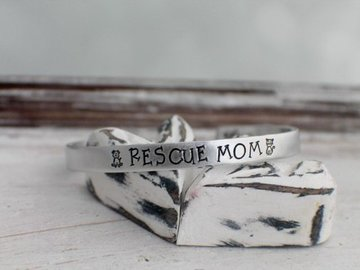 Selling: Dog Rescue Mom Cuff Bracelet