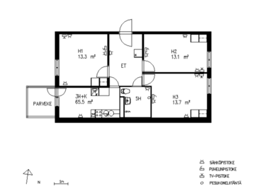 Annetaan vuokralle: Room in a shared apartment available for 3 months