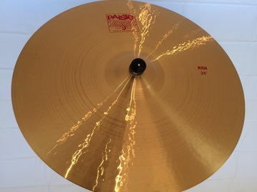 """Selling with online payment: Paiste 24"""" 2002 Ride Cymbal - almost new"""