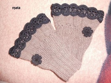 Vente au détail: mitaines dentelle en laine/Mitaines Femme,Hiver Poignet Chau