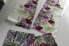 Myydään: Curtains and cushion cover