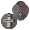 "Buy Now: 60 -- Swarovski Rhinestone Cross on 24"" Open Link Chain"