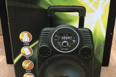 "Single Item: 8"" Portable Bluetooth Speaker w/ LED Light & Handheld Mic"