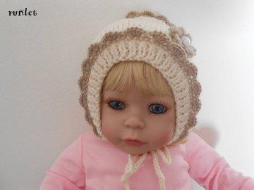 Vente au détail: Bonnet bebe laine,bonnet bébé fille en laine/ naissance/tric