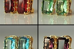 Buy Now: 50 prs- Swarovski  Octagon Rhinestone Clip Earrings $2.00 pr