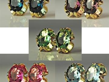 Buy Now: 50 prs-- Swarovski Oval Large Rhinestone Clip Earrings--$1.99 pr