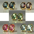 Buy Now: 50 prs-- Swarovski Oval Large Rhinestone Clip Earrings--$1.99 pr