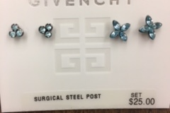 Bulk Lot: 40 pairs-- Bijoux Givenchy Designer Earrings-- $500.00 value
