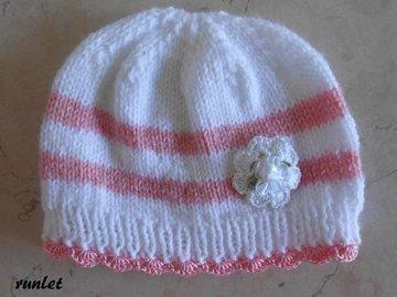 Vente au détail: bonnet bébé laine
