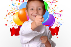 Request To Book & Pay In-Person (hourly/per party package pricing): Children's Karate Birthday Parties
