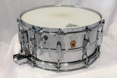 "Selling with online payment: Vintage WFL-Ludwig 6.5x14"" COB Super-Sens Snare Drum"
