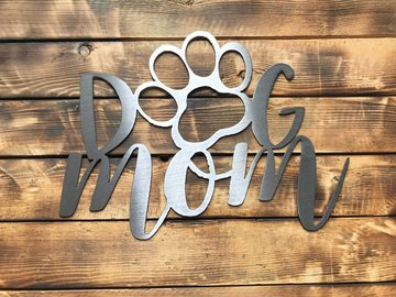 Selling: Dog Mom - Shiny Steel