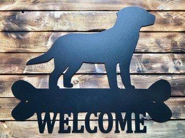 Selling:   Labrador Retriever Welcome Sign - Black