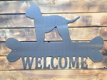 Selling: Labradoodle Welcome Sign - Shiny Steel