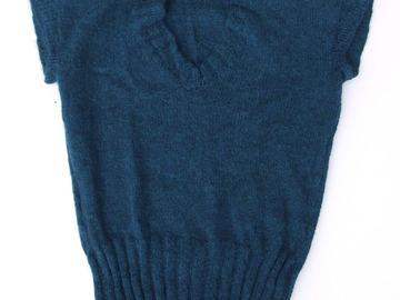 Sale retail: Pull bleu canard en alpaga