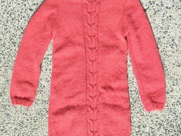Sale retail: Robe tricotée mains en mohair