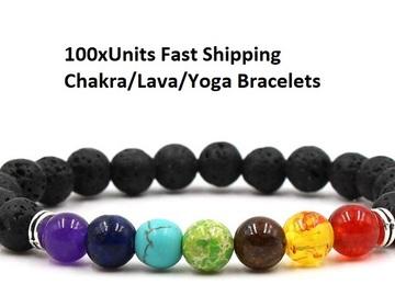 Buy Now: 100x (Hot Sellers) Black Lava Stone Bracelets
