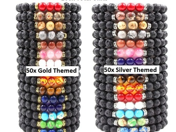 Buy Now: 50 Gold and 50 Silver (100 Total Chakra Yoga Bracelets)