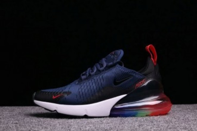 great deals new lifestyle cute cheap Femme/Homme Nike Air Max 270 Noir/Bleu - lebonmarket