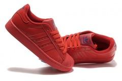 Vente avec paiement en ligne: Femme Adidas Originals Superstar Rouge
