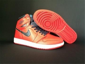 Vente avec paiement en ligne: Femme/Homme Nike Air Jordan 1 OG AJ1 Noir/Rouge
